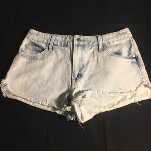 High Waisted Bleached Shorts Size 8/29